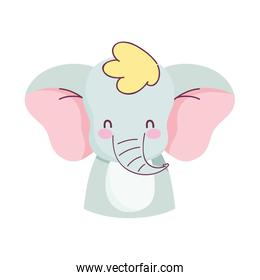 cute elephant little animal cartoon isolated design icon