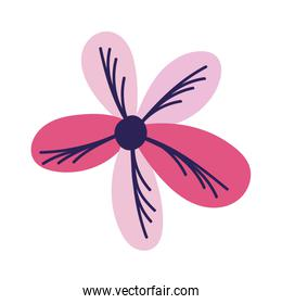 pink flower decoration nature isolated design icon
