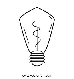electric light bulb, eco idea metaphor, isolated icon line style