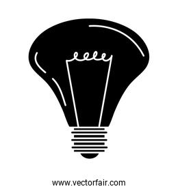 electric light bulb, eco idea metaphor, isolated icon silhouette style