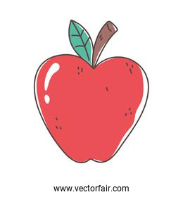 apple organic fruit fresh nutrition healthy food isolated icon design