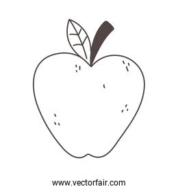 apple organic fruit fresh nutrition healthy food isolated icon design line design icon
