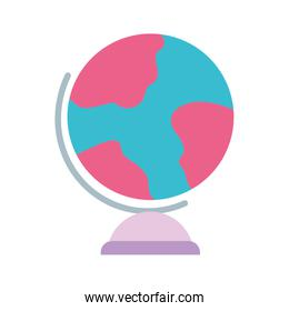 school globe map geography isolated icon design white background