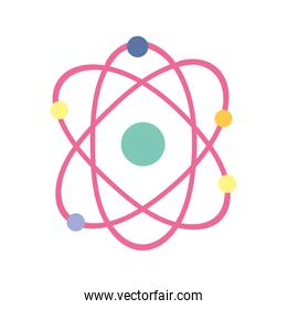 science molecule atom school isolated icon design white background