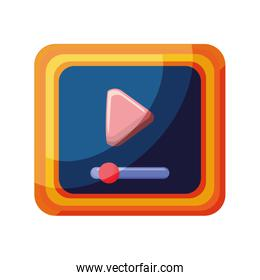 media player application icon on white background