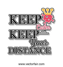 keep calm and keep your distance, banner