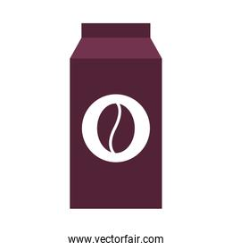 Isolated coffee bag vector design