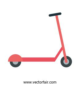 Isolated red scooter vector design