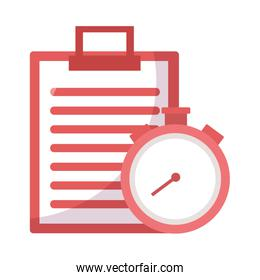 Isolated chronometer instrument and document vector design