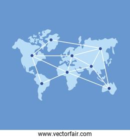 World map with points vector design