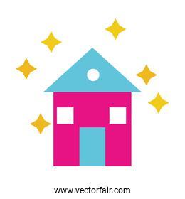Isolated clean house vector design