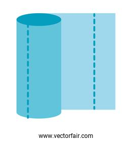 Isolated tissues roll vector design