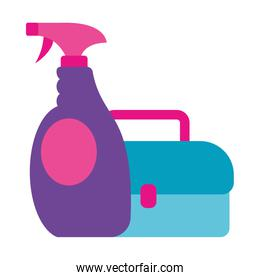 Isolated spray bottle and kit vector design