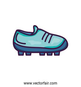 soccer shoes icon, line color style