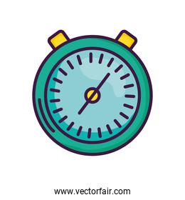 stopwatch icon image, line color style