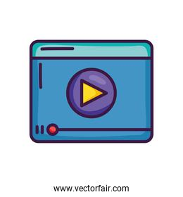 video player icon, line color style
