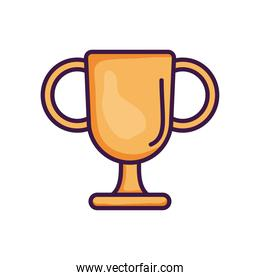 champion trophy cup icon, line color style