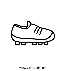 soccer shoes icon, line style