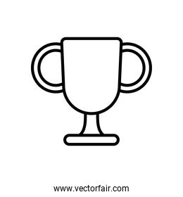champion trophy cup icon, line style