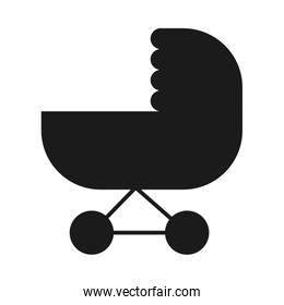 baby stroller, silhouette style