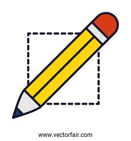 pencil icon image, line and fill style