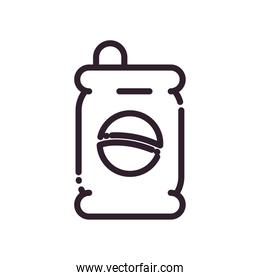 Isolated soda can drink line style icon vector design