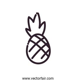 Isolated pineapple fruit line style icon vector design