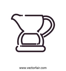 Isolated drink jar line style icon vector design