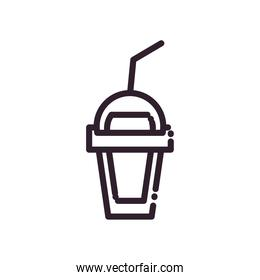 Isolated juice mug drink line style icon vector design