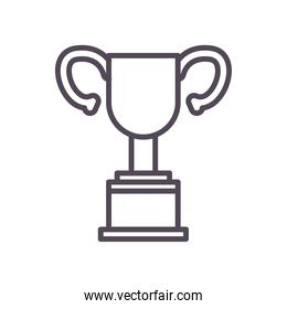 Isolated trophy line style icon vector design