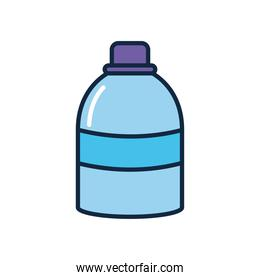 antibacterial bottle icon, line color style