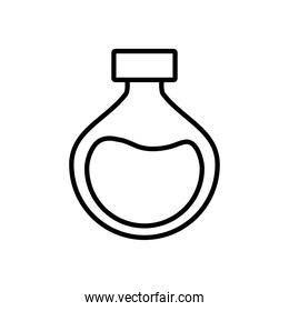 chemical flask icon, line style