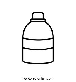 antibacterial bottle icon, line style