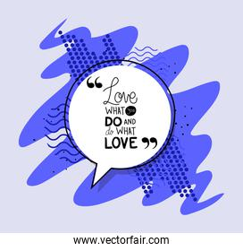 love what you do and do what you love quote vector design