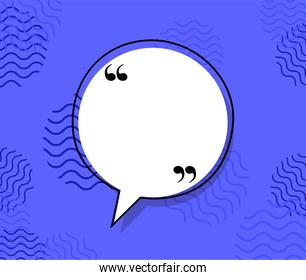Quote communication bubble vector design