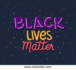 Black lives matter text vector design
