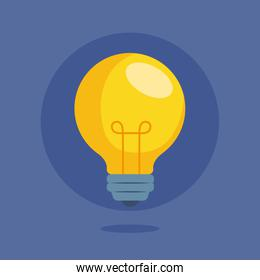 light bulb, creative idea and innovation icon