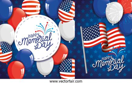 cards memorial day, honoring all who served, with decoration