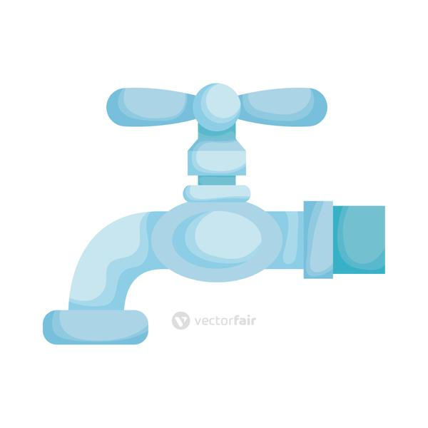 Isolated water tap vector design