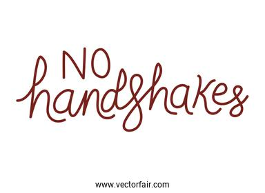 Isolated no handshakes text vector design