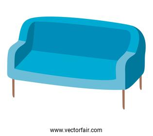 Isolated blue couch vector design