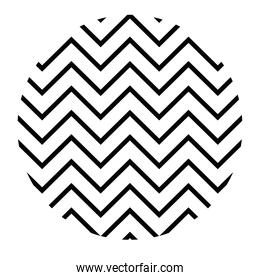 geometric and abstract zig zag circle vector design