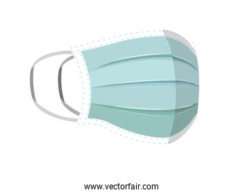 Isolated blue medical mask vector design