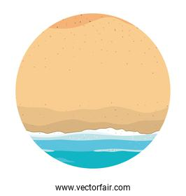 Isolated beach and sea vector design