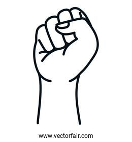 Isolated fist hand vector design