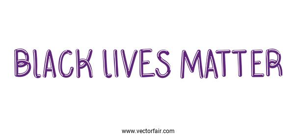 Black lives matter lettering vector design