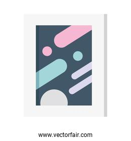 picture frame icon on white background