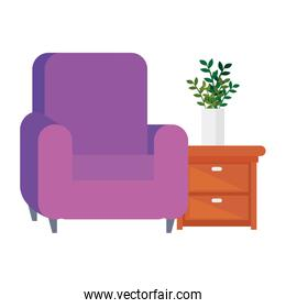 comfortable sofa, luxury couch, with wooden drawer, domestic couch furniture