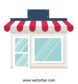 storefront, store shop facade on white background