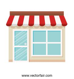 store shop facade on white background